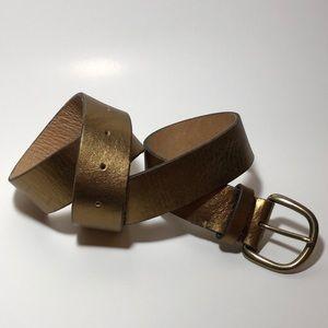 J.Crew Bronze Leather Belt